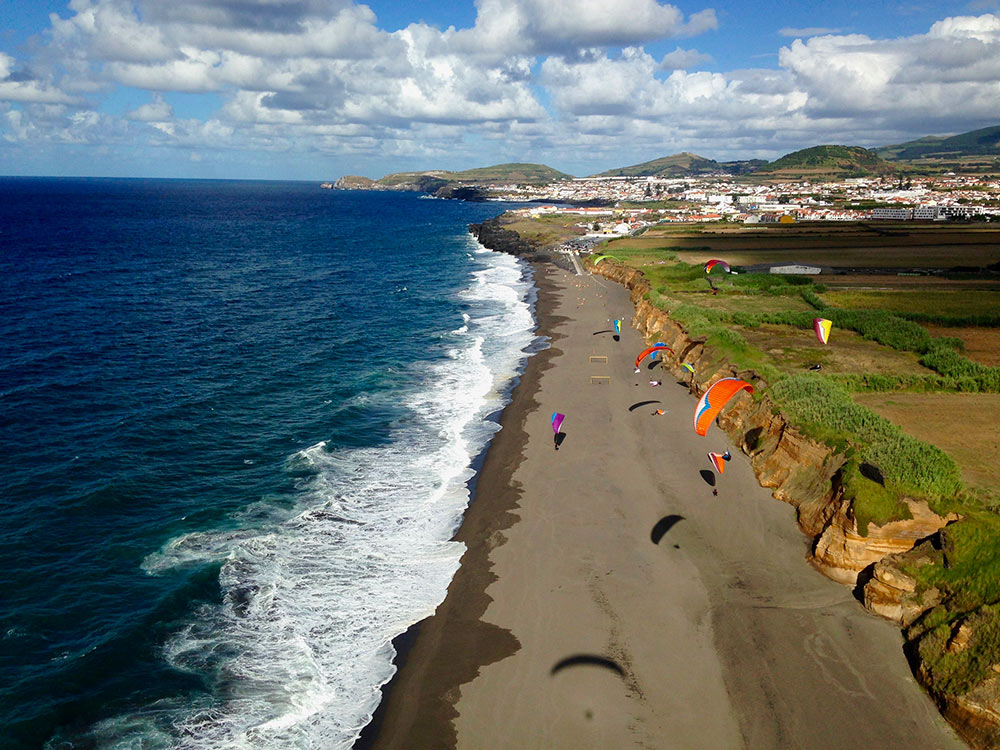 Parapente à Sete Cidades aux Açores