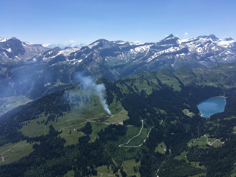 Incendie d'un alpage