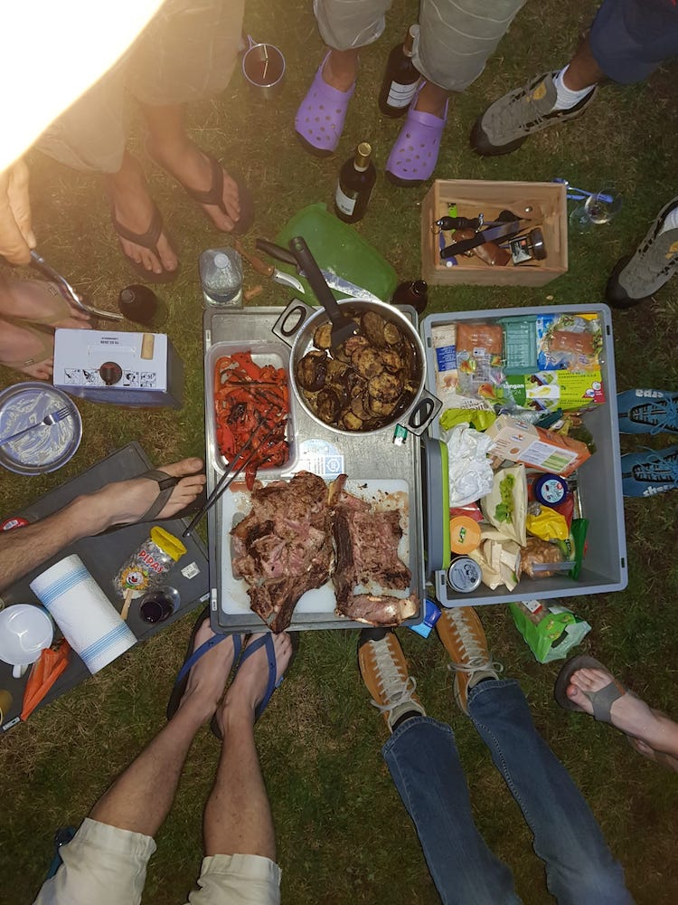 Grillade au camping