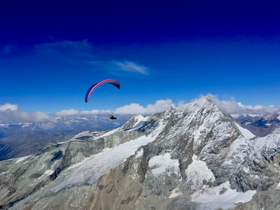 Stage de parapente distance en Suisse