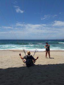 Parapente sur la plage corse